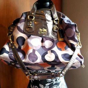 Coach Metallic Multi-colored Handbag